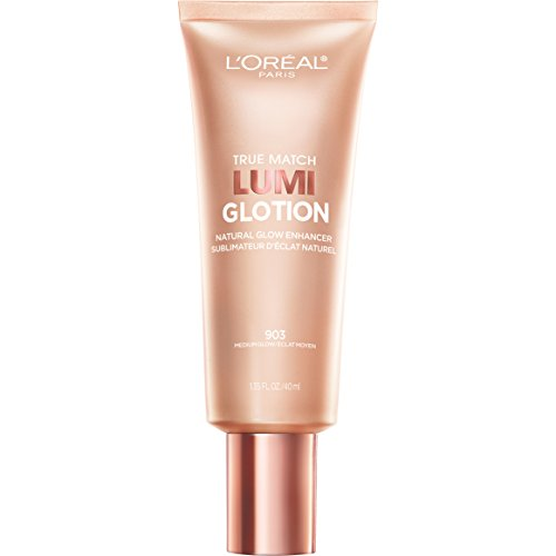 L'Oreal Paris Makeup True Match Lumi Glotion Natural Glow Enhancer Highlighting Lotion, 1 Count, Medium