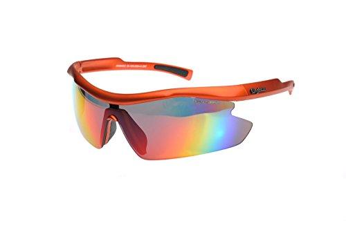 Gyron Polaris Revo Sonnenbrille–matt orange, groß