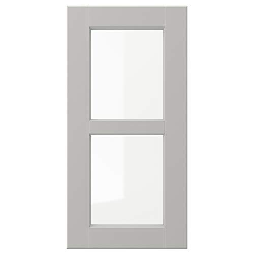 LERHYTTAN glasdörr 30 x 60 cm ljusgrå