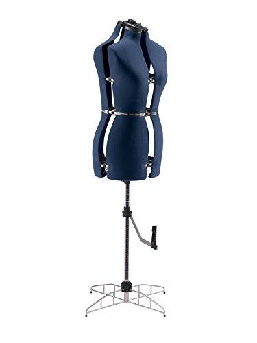 Singer DF250, Maniquí de costura ajustable Torso coser, Azul, M/L (talla 46-50)