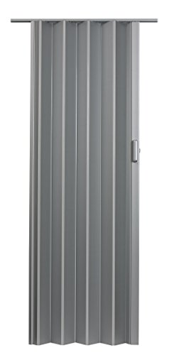 LTL Home Products EL4880S Elite Interior Accordion Folding Door, 48 x 80 Inches, Satin Silver