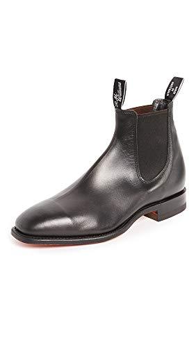 R.M. Williams Men's Classic RM Leather Chelsea Boots, Black, 10.5 Medium US