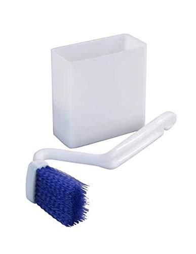 WENKO WC-Randreiniger mit Box sauber Winkel Borsten Saugnapf Wandmontage hygienisch