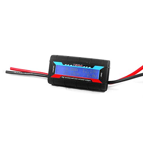 Taikuwu 150 Amps High Precision Power Analyzer Watt Meter Battery Consumption Performance Monitor with LCD Backlight for RC, Battery, Solar, Wind Power