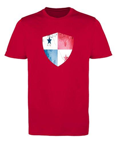Comedy Shirts - Panama Trikot - Wappen: Groß - Wunsch - Mädchen Trikot - Rot/Weiss Gr. 110-116