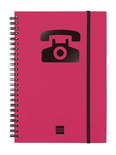 Finocam 8510698 - Agenda telefónica espiral a5, color magenta