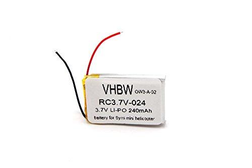 vhbw Li-Ion Akku 240mAh (3.7V) passend für Helikopter Syma S107G, S108G
