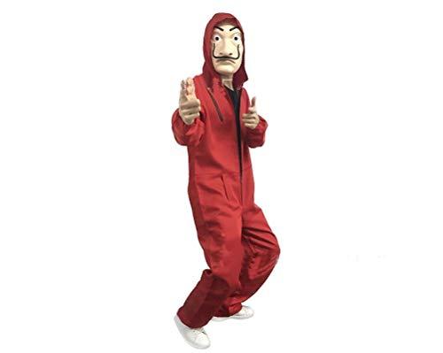 XIANGLIOOD Unisexe Salvador Dali Money Heist La Maison De Papier Costume Cosplay Jumpsuit