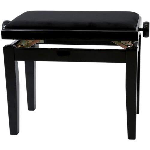 Gewa Piano Bench Deluxe Black High Gloss, Black Seat