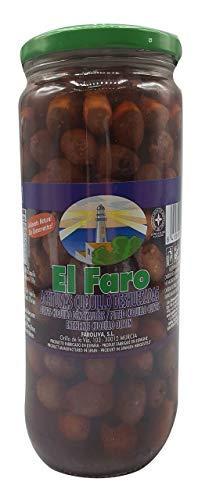 EL FARO- Aceitunas Cuquillo Deshuesada ( Negras)- Típicas de la Región de Murcia- No pueden faltar en la mesa de cualquier amante de las aceitunas y la buena gastronomía. 720 ml neto