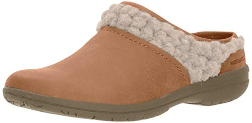 Merrell Women's Encore Kassie Slide Wool Clog, Natural tan, 9.5 M US