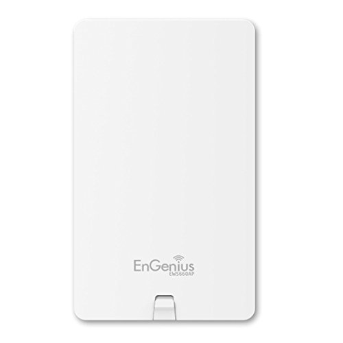 EnGenius Technologies EWS660AP Wi-Fi 5 AC1750 3x3 Dual Band Outdoor Managed Access Point Features IP55 Rated, MU-MIMO, 29dBm Transmit Power, GigE Port (PoE Injector and Mounting Kit Included) White