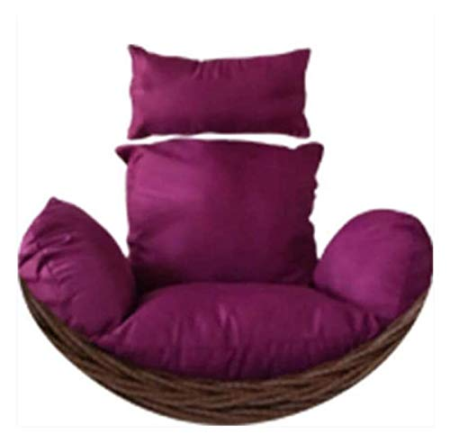 Home Decoration Swing Chair Cushion Large Double Hanging Egg Hammock Chair Cushion Without Stand Patio Swing Chair Cushion For Outside Egg Nest Chair Seat Cushion Hanging Basket Furniture Cushion LLNN