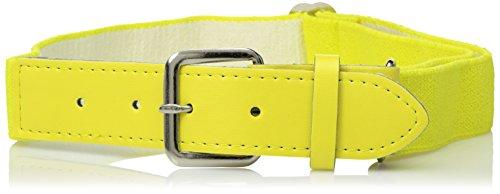 Augusta Sportswear Elastic Baseball Belt, Power Yellow, One Size