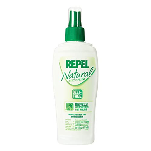 Repel DEET-Free Insect Repellent, Pump Spray, 6-Ounce, 6-Pack
