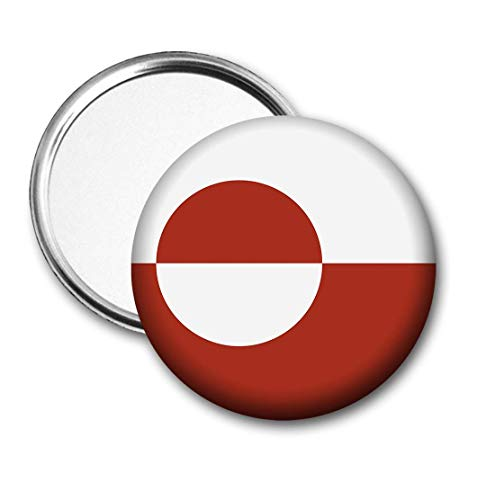 Groenland Vlag Pocket Spiegel voor Handtas - Handtas - Cadeau - Verjaardag - Kerstmis - Stocking Filler - Secret Santa