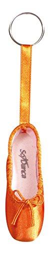 So Danca Schlüsselanhänger KCE01 in Form eines Ballettschuhes mit Schlüsselring - Farbe orange