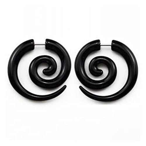 QWERBAM 2 unids acrílico tramposo Falso Truco Espiral Espiral mangullas cónico Expander Pendiente Enchufe Cuerpo Piercing (Metal Color : 2)