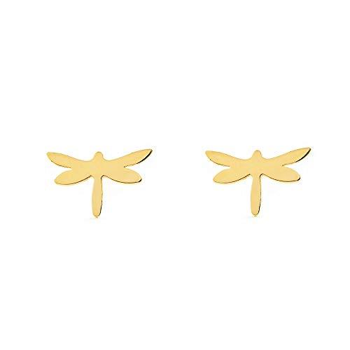Orecchini per bambini libellula - oro giallo 9k (375)