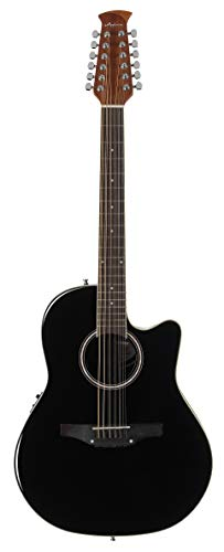 Ovation Applause Guitarra Electro-Acústica Mid Cutaway black AB2412II-5, 12 string