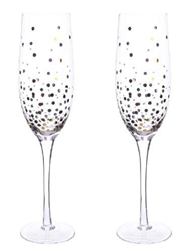 Kaemingk edles Champagnerglas mit Goldpunkten Preis für 2 Stück