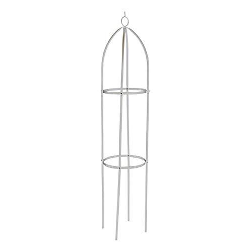 ASSR Obelisco de jardín para escalar plantas al aire libre, metal hierro arco enrejado soporte de flores, torre obelisco jardín enrejado planta trepadora marco para plantas trepadoras viñas rosas