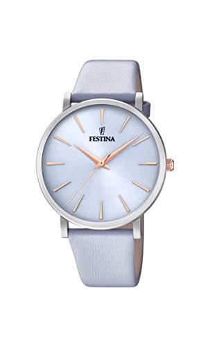 Festina Damen Analog Quarz Uhr mit Leder Armband F20371/3