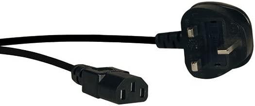 TRIPP LITE P056-006-10A Standard Computer Power Cord, 10A (IEC-320-C13 to BS-1363 UK Plug)