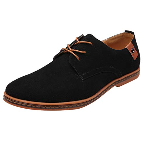 New Leather Shoes for Men Kstare Men's Business Casual Spring Lace Up Street Oxford Walk Classic Sue...
