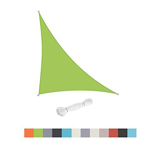Triángulo Sun Shade Sail, Piscinas Al Aire Libre Patio De Jardín, Impermeable 98% Anti-UV Toldo De Toldo con Protector Solar, Varios Tamaños, Fácil De Limpiar (Green,4 x 4 x 5.7)