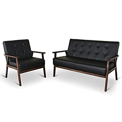 Mid-Century Retro Modern Living Room Sofa Set with Loveseat and Seating Sofa Chair, Couch and Lounge Chairs by Ningbo Bobabi E-commerce Co., Ltd.