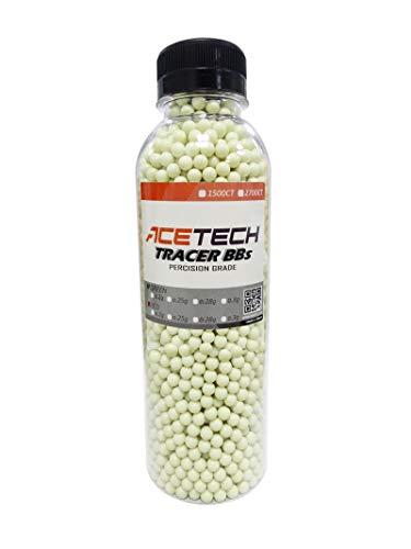 ACETECH Airsoft Gun Glow in Dark Tracer BBS Green (Green 0.25g 2700CT)