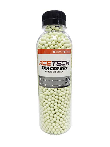 ACETECH Airsoft Gun Glow in Dark Tracer BBS Green (Green 0.2g 2700CT)