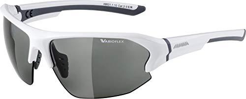 alpina LYRON HR VL Sportbrille, Unisex- Erwachsene, white-grey, One size