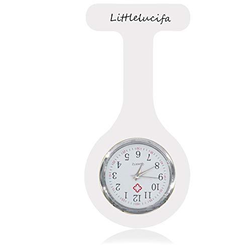 Krankenschwester Uhr Fob, Littlelucifa Uhr Brosche für Männer Qualität Silikon Infektionskontrolle Design Uhren für Frauen Farbe Gesundheitswesen Arzt Sanitäter Medizinische Farbe