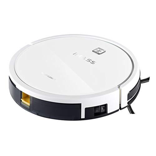 RUIXFRV InalámbricoRobot Aspirador, fácil Limpieza y Vaciado,con sensores anticaída y bateria de ión-Litio, 150 Minutos de autonomía Apto para Todo Tipo de Suelos Inteligente, White