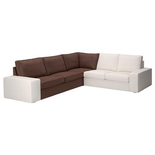 Unbekannt IKEA KIVIK Bezug für Eckelement in Borred Dunkelbraun Artnr. 303.429.50