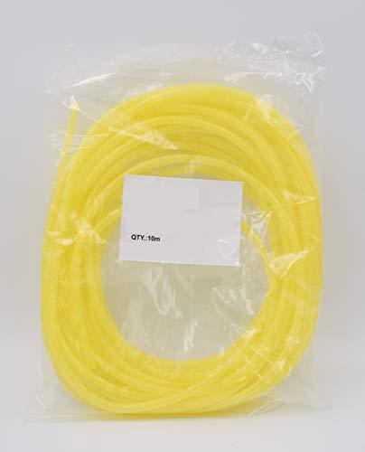 Manguera en espiral amarilla para cables de 10 metros con diámetro de...