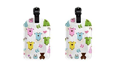 Leuke Baby Kostuums 2 STKS PU Lederen Bagage Tag ID Tags Zakelijke Kaart voor Hang op Reistas Bagage