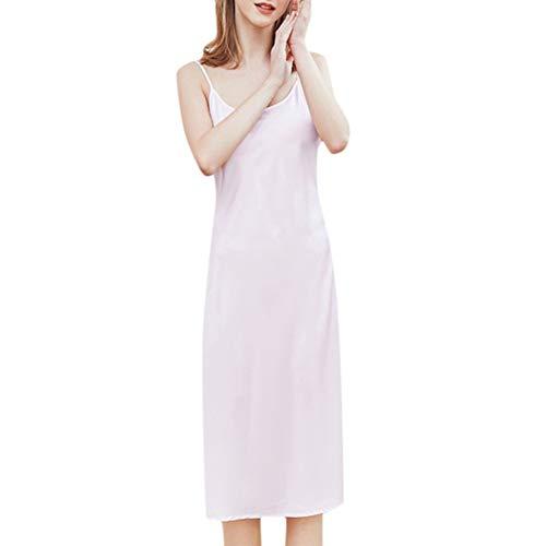 ISKER Ladies' Pajamas Women's Fashion Pajamas Round Neck Strap Long Sleeveless Pajamas and Nude Long Nightdress 2019 New