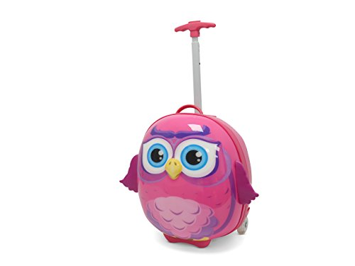 Kids Travel 2 Owl Suitcase Children's Luggage, 39 cm, 11.0 Liters, Pink