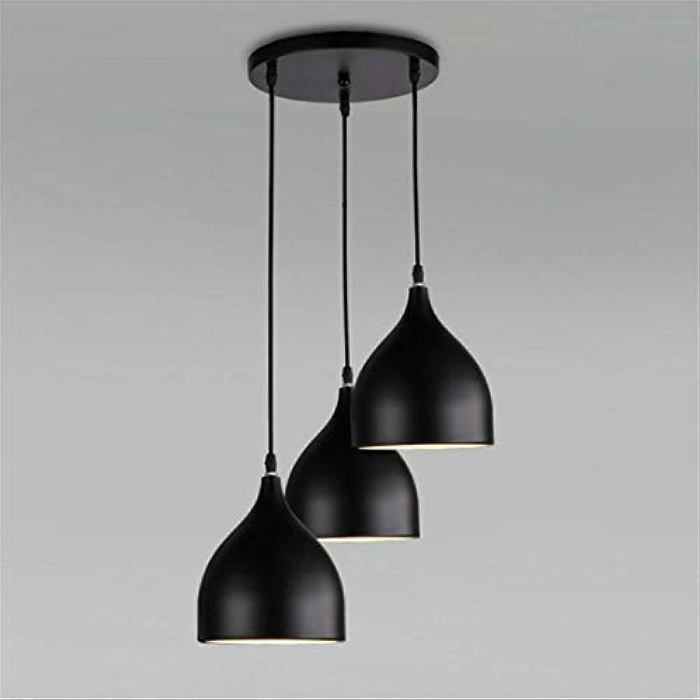 Lichtvintage Retro Pendant Light Pendant 3-Flame E27 Edison Lamp Mount Diy schwarz Industry Style Height Adjustable Creative Chandeliers