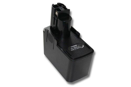 Batterie NI-MH 3000mAh 12V noir pour BOSCH AHS 3, AHS 4, AHS A etc. Remplace 2 607 335 055, 2 607 335 071, 2 607 335 081, 2 607 335 244 etc.