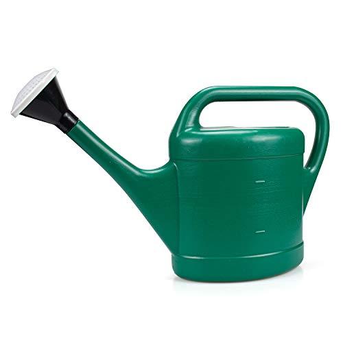 Fasmov 3 Liter Gießkanne Kunststoff Gartengießkanne Bewässerung Blumengießkanne mit langem Auslauf für Innen- und Außenbereich (Grün)