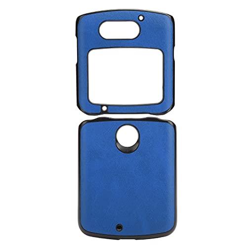 Handytasche, Handy-Schutzhülle Stoßfeste Handy-Lederhülle für Motorola Razr 5G(Blau)