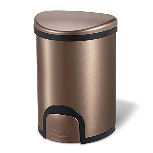 Mülleimer Poubelle Abfalleimer Hahn öffnen Abfallbehälter 12 l Edelstahl automatische Papierkassette mit Deckel Dichtung Home Küche Wohnzimmer Badezimmer Rollsnownow