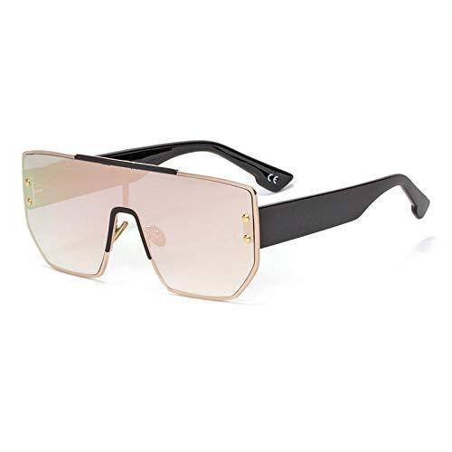 IRCATH Gafas de Sol Vintage para Mujer Gafas de Sol para Mujer Espejo de Gafas de Sol Cuadrado de Gran tamaño para Mujer Adecuado para conducción al Aire Libre y Senderismo-C4