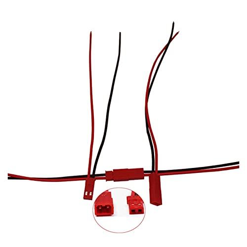 NERR YULUBAIHUO 50/100 Pares de 2 Pines JST Cable de Enchufe Conector Hombre/Femenino Ajuste para RC BEC Helicóptero DIY FPV Drone Quadcopter (Color : 100 Pairs)