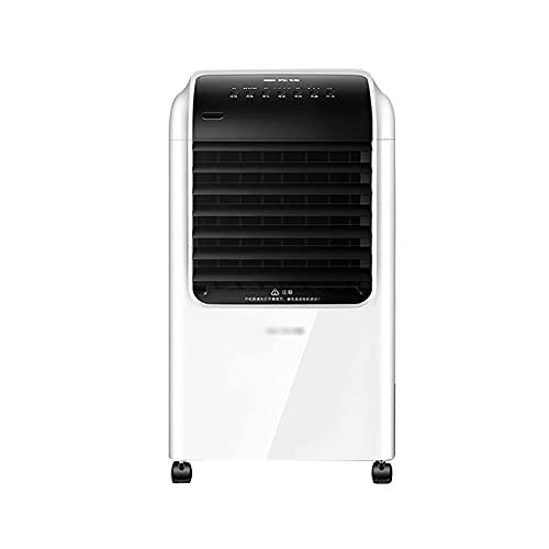 Refrigerador de aire evaporativo, ventilador, humidificador, purificador, control remoto, 68 W de baja energía, para uso en casa u oficina.