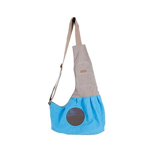 Hundetragetasche/Schultertasche für kleine Hunde, mit integriertem Befestigungshaken.